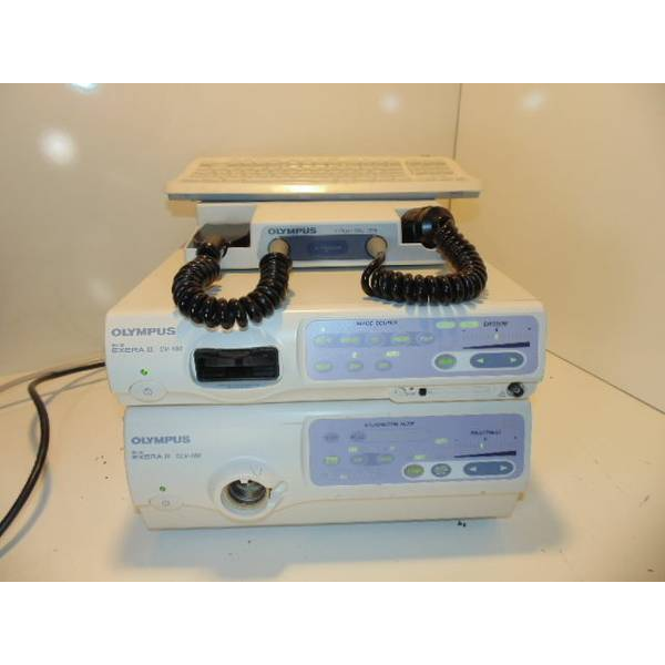 olympus cv-180 complete video endoscopy system on tower